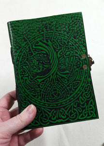 Leather Bound Green Tree of Life Journal