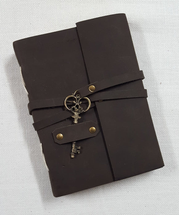 Leather Bound Journal with Key