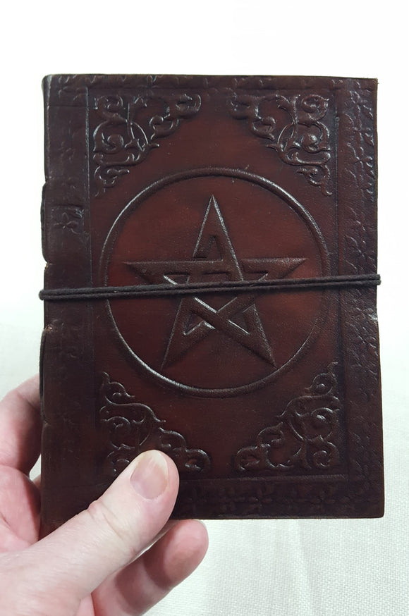 Leather Bound Pentagram Journal