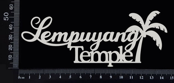 Lempuyang Temple - White Chipboard