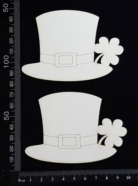 Leprechaun Hats - White Chipboard