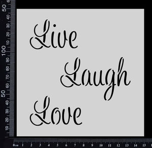 Live Love Laugh - Stencil - 150mm x 150mm