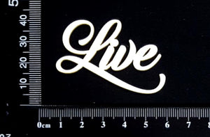 Sandscript Word - Live - White Chipboard