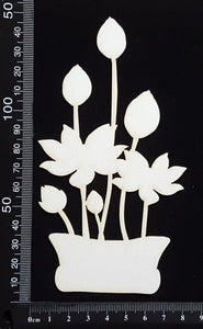 Lotus - A - Large - White Chipboard