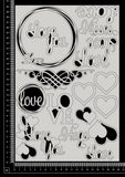 Love Elements - Set A - White Chipboard
