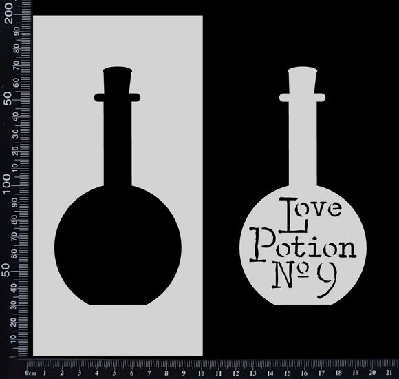 Love Potion Bottle - Stencil - 100mm x 200mm