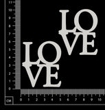 Love Squares - White Chipboard