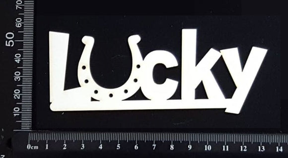 Lucky - B - White Chipboard