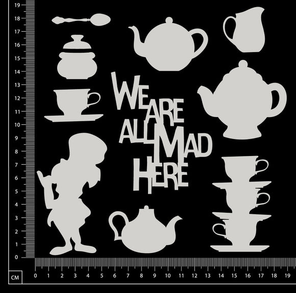 Mad Hatter Set - Small - White Chipboard