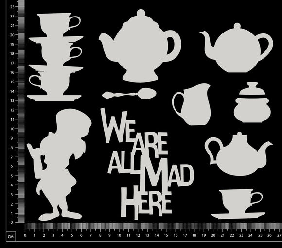 Mad Hatter Set - Large - White Chipboard