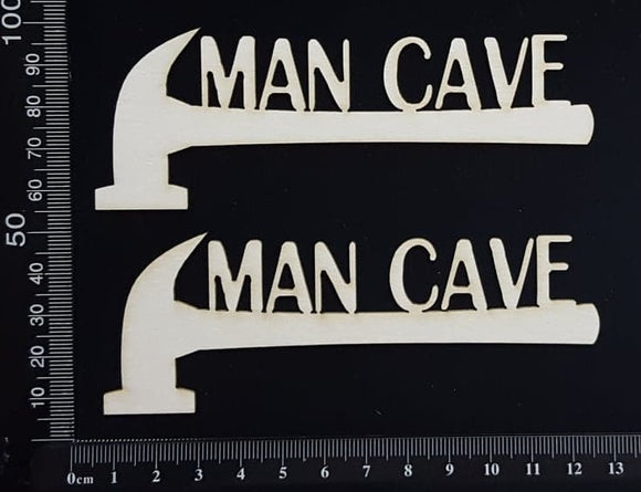 Man Cave - Set of 2 - White Chipboard