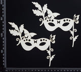 Masquerade Mask Set - A - Large - White Chipboard