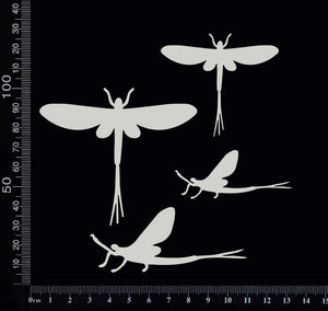 Mayfly Set - White Chipboard