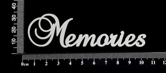 Elegant Word - Memories - White Chipboard