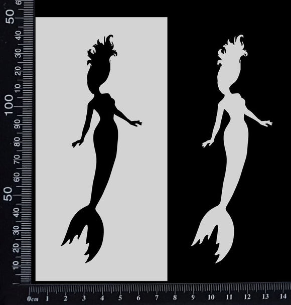 Mermaid - A - Stencil - 75mm x 150mm