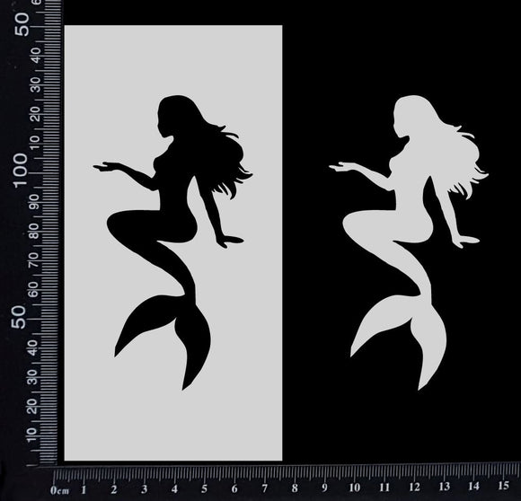 Mermaid - B - Stencil - 75mm x 150mm
