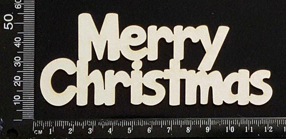 Merry Christmas - C - White Chipboard
