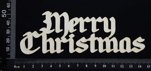 Merry Christmas - E - White Chipboard