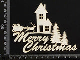 Merry Christmas - H - White Chipboard