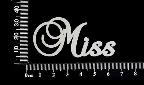 Elegant Word - Miss - White Chipboard