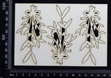 Mistletoe Set - A - Small - White Chipboard