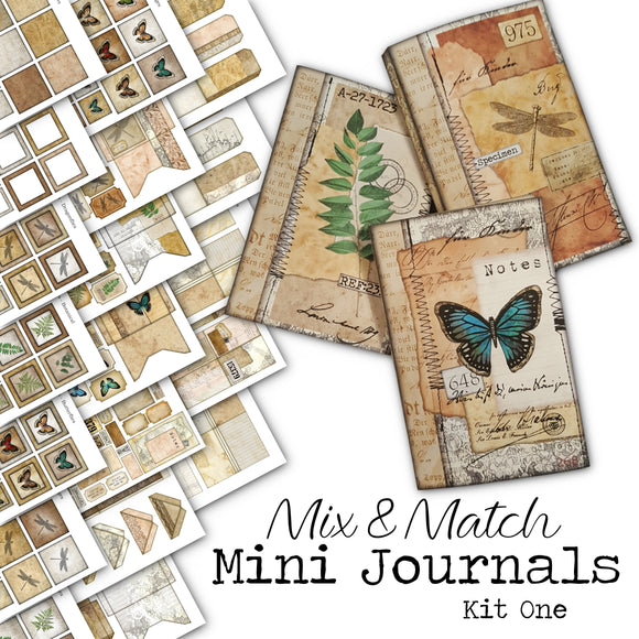 Mix & Match Mini Journals Kit One - DI-10026 - Digital Download