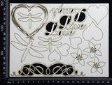 Mixed Element Set - D - White Chipboard