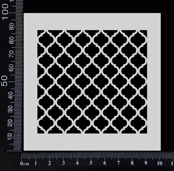 Moroccan Lattice - Stencil - 100mm x 100mm