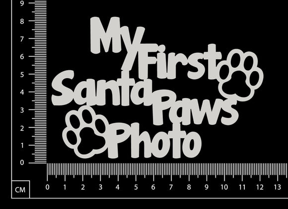 My First Santa Paws Photo - White Chipboard