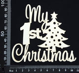 My 1st Christmas - A - White Chipboard