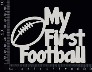 My First Football - White Chipboard