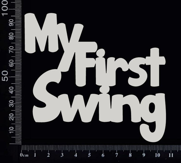 My First Swing - A - White Chipboard