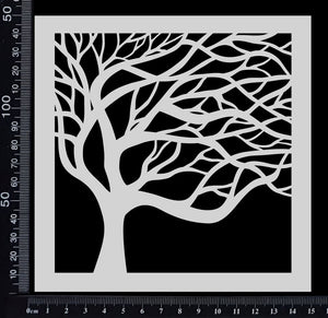 Mystical Tree - Stencil - 150mm x 150mm