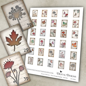 Nature Collection - Faux Postage Stamps - Set One - DI-10080 - Digital Download