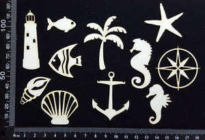 Nautical Elements - Set F - White Chipboard
