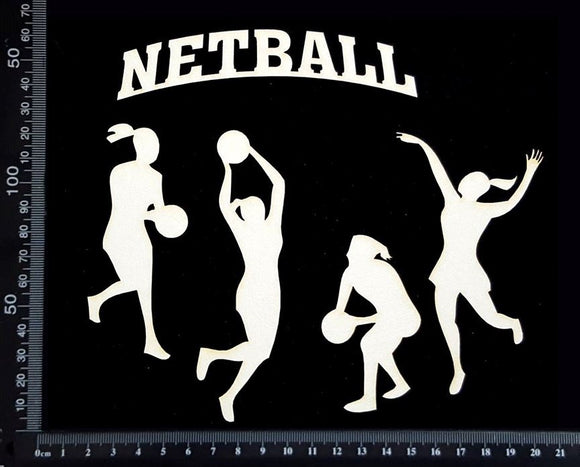 Netball Set - White Chipboard