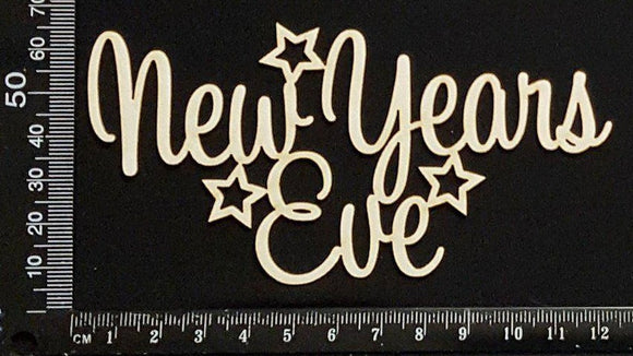 New Years Eve - White Chipboard