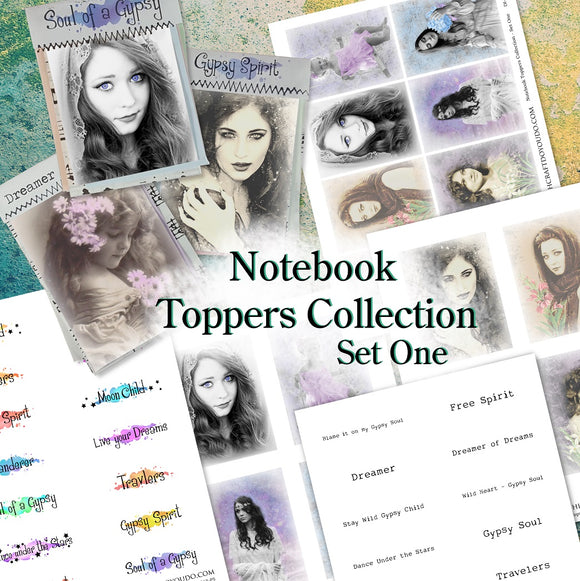 Notebook Toppers Collection - Set One - DI-10015 - Digital Download