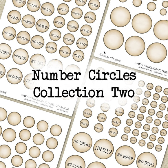 Number Circles - Collection Two - DI-10064 - Digital Download