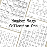 Number Tags - Collection One - DI-10065 - Digital Download