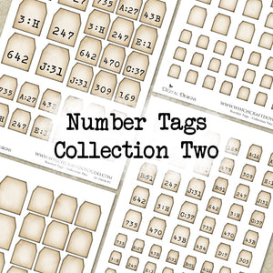 Number Tags - Collection Two - DI-10066 - Digital Download