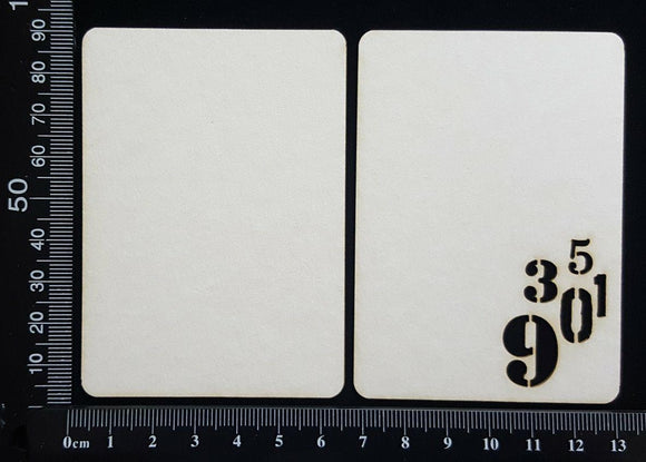 Number ATC - A - Layering Set - White Chipboard