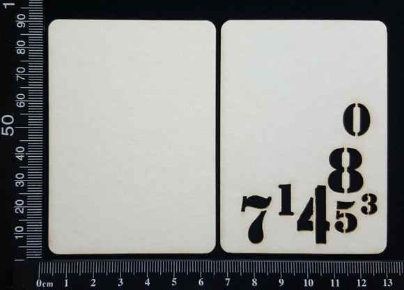 Number ATC - C - Layering Set - White Chipboard