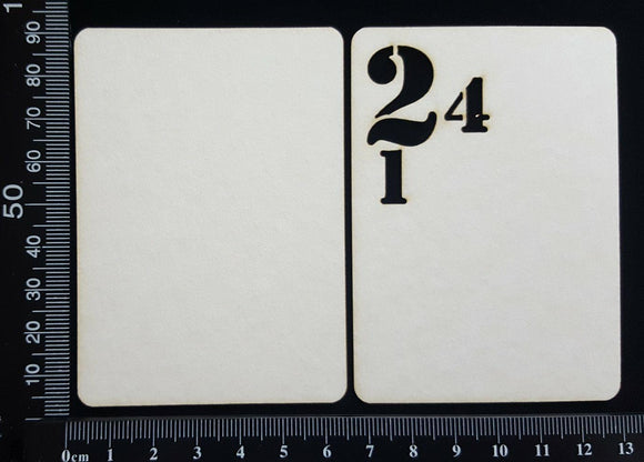 Number ATC - D - Layering Set - White Chipboard