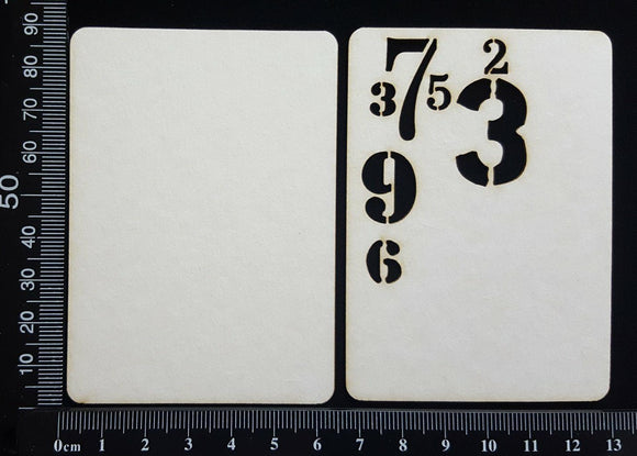 Number ATC - E - Layering Set - White Chipboard