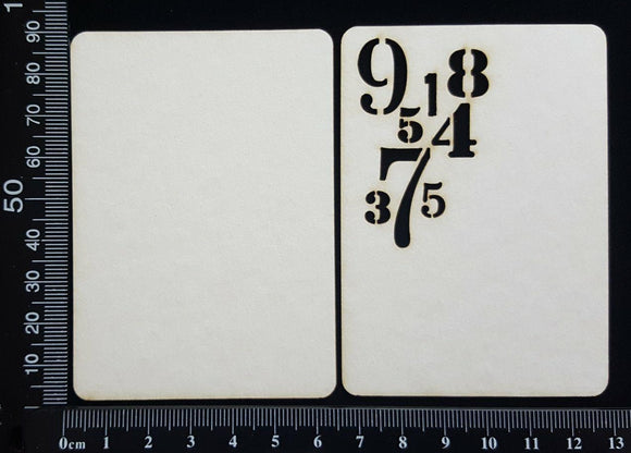 Number ATC - F - Layering Set - White Chipboard