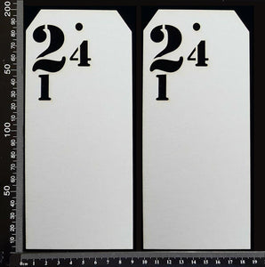 Number Tags - Large - C - White Chipboard