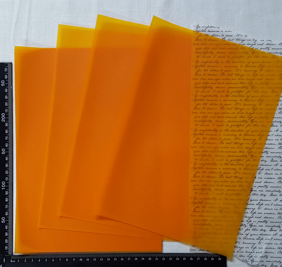 Parchment/Vellum Paper - A4 pack of 25 sheets - Orange
