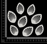 Ornate Leaves Set - White Chipboard