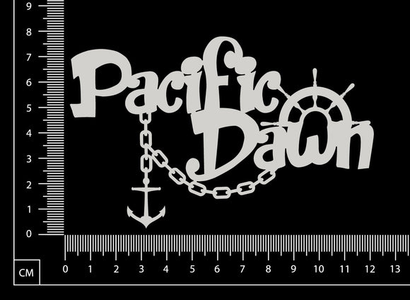 Pacific Dawn - White Chipboard